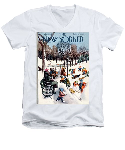 New Yorker February 26th, 1955 Men's V-Neck T-Shirt