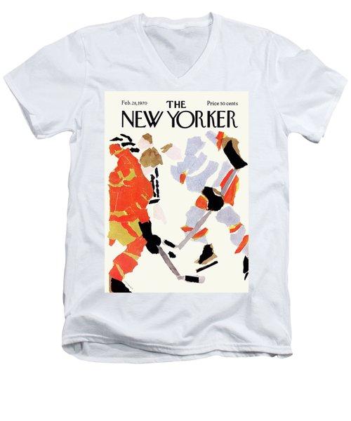 New Yorker February 28th, 1970 Men's V-Neck T-Shirt