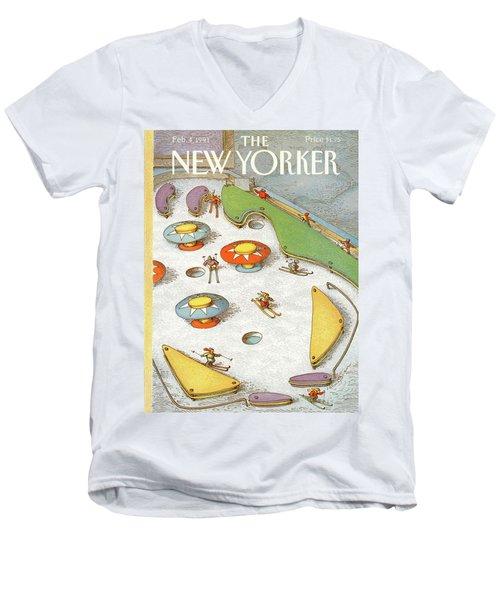 New Yorker February 4th, 1991 Men's V-Neck T-Shirt