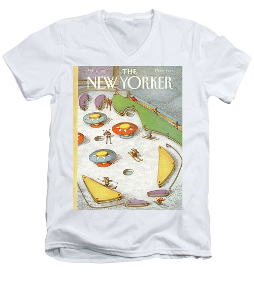 New Yorker February 4th, 1991 Men's V-Neck T-Shirt