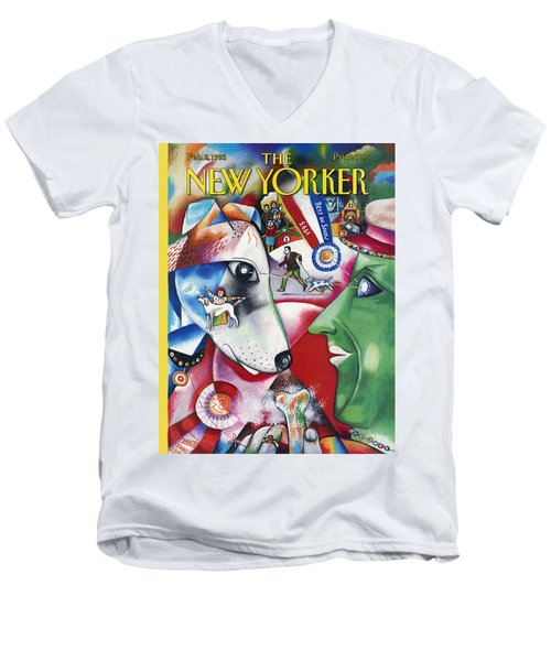 New Yorker February 8th, 1993 Men's V-Neck T-Shirt