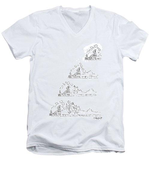 New Yorker January 12th, 1987 Men's V-Neck T-Shirt