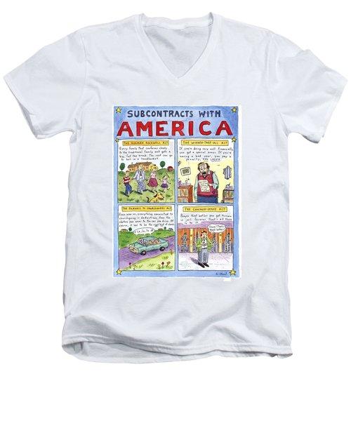 New Yorker January 16th, 1995 Men's V-Neck T-Shirt