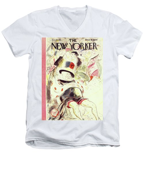 New Yorker January 24 1931 Men's V-Neck T-Shirt