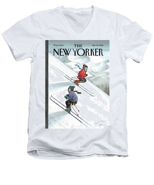 New Yorker January 24th, 2000 Men's V-Neck T-Shirt