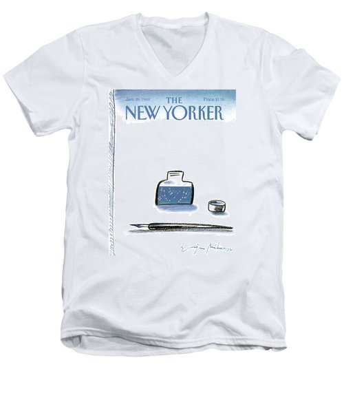 New Yorker January 25th, 1988 Men's V-Neck T-Shirt
