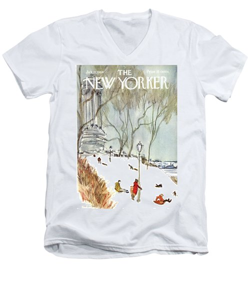New Yorker January 27th, 1968 Men's V-Neck T-Shirt