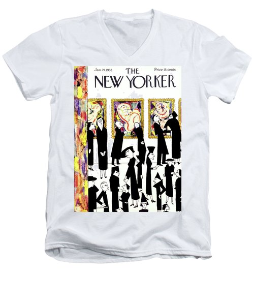 New Yorker January 29 1938 Men's V-Neck T-Shirt
