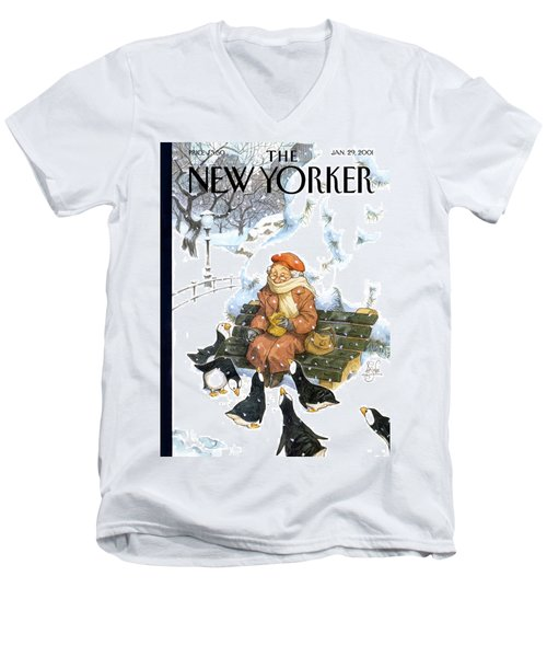 New Yorker January 29th, 2001 Men's V-Neck T-Shirt