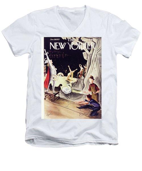 New Yorker January 30 1937 Men's V-Neck T-Shirt