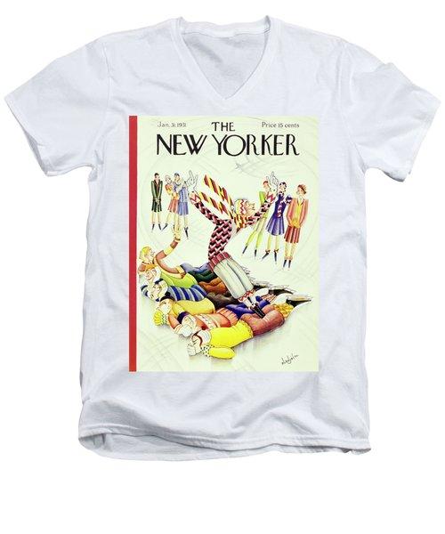 New Yorker January 31 1931 Men's V-Neck T-Shirt