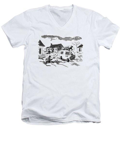 New Yorker January 31st, 1994 Men's V-Neck T-Shirt