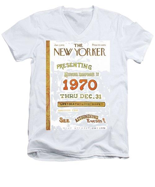 New Yorker January 3rd, 1970 Men's V-Neck T-Shirt
