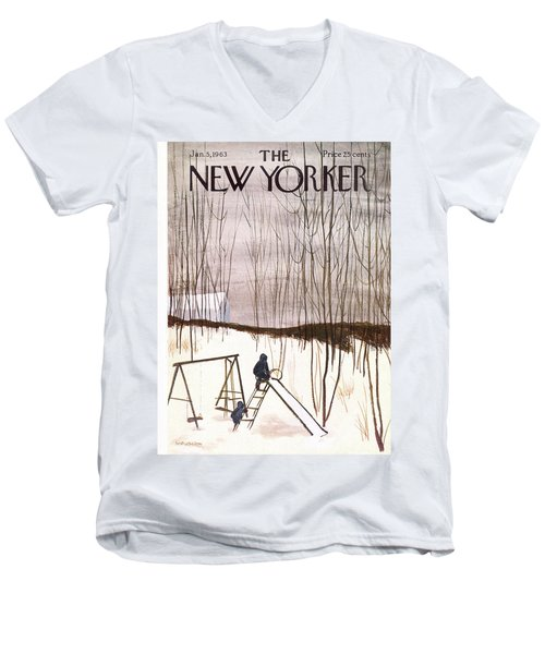 New Yorker January 5th, 1963 Men's V-Neck T-Shirt