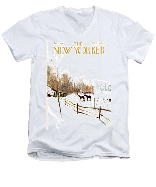New Yorker January 6th, 1962 Men's V-Neck T-Shirt