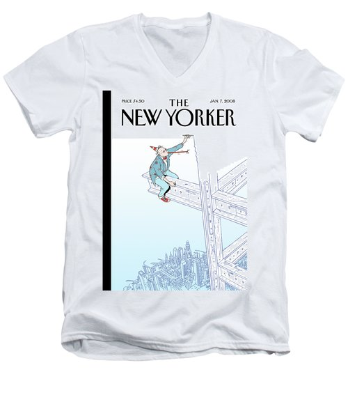 New Yorker January 7th, 2008 Men's V-Neck T-Shirt