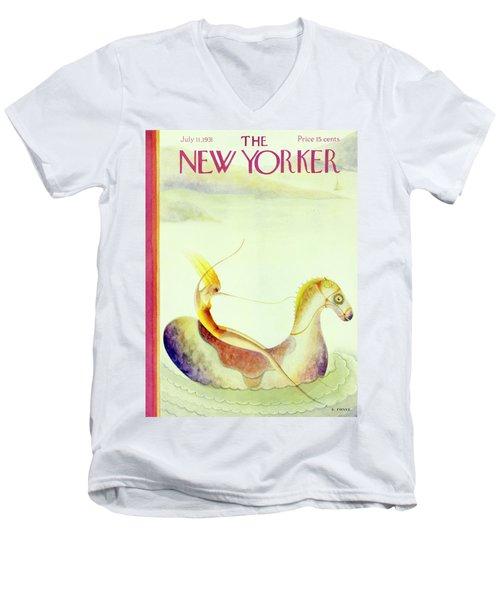 New Yorker July 11 1931 Men's V-Neck T-Shirt