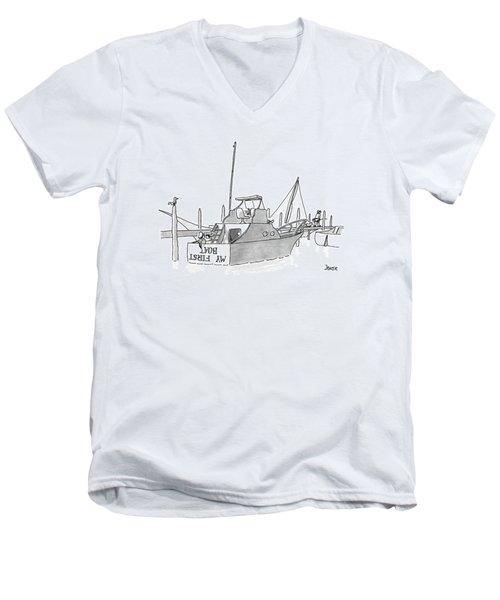 New Yorker July 11th, 1988 Men's V-Neck T-Shirt