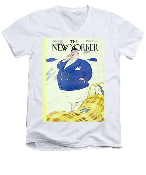 New Yorker July 16 1932 Men's V-Neck T-Shirt