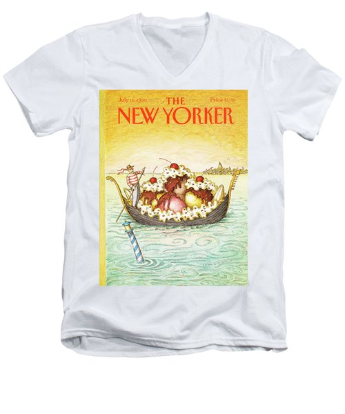 New Yorker July 16th, 1990 Men's V-Neck T-Shirt