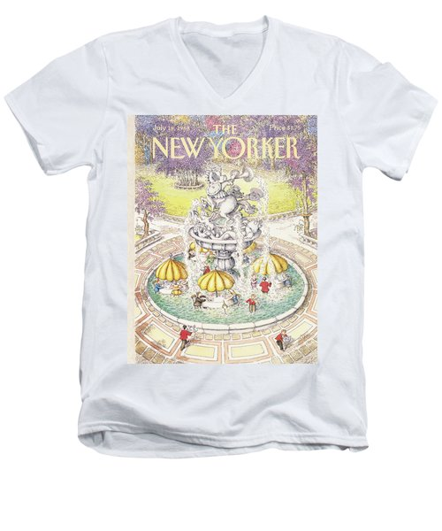 New Yorker July 18th, 1988 Men's V-Neck T-Shirt