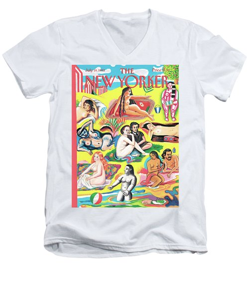 New Yorker July 19th, 1993 Men's V-Neck T-Shirt