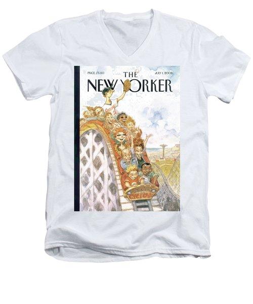 New Yorker July 1st, 2002 Men's V-Neck T-Shirt