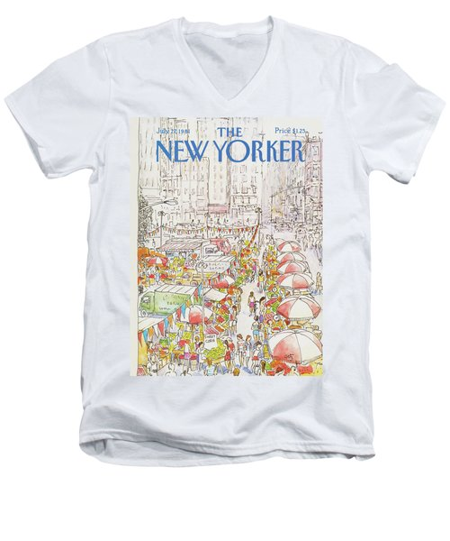 New Yorker July 27th, 1981 Men's V-Neck T-Shirt