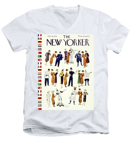 New Yorker July 30 1938 Men's V-Neck T-Shirt