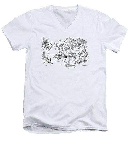 New Yorker July 4th, 1988 Men's V-Neck T-Shirt