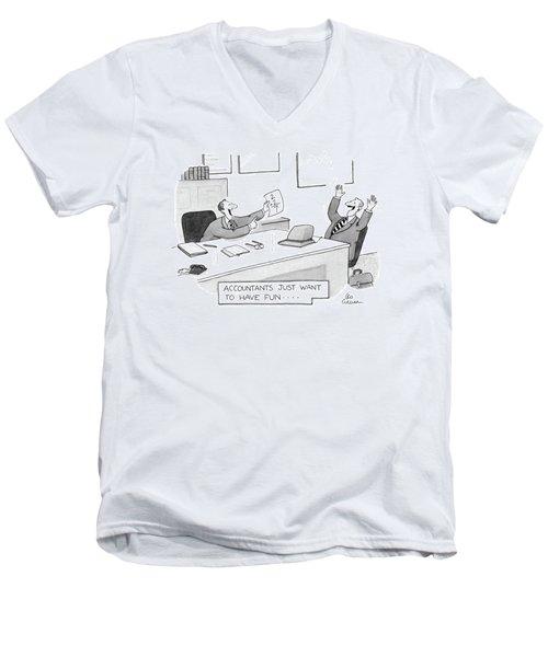 New Yorker July 8th, 1985 Men's V-Neck T-Shirt