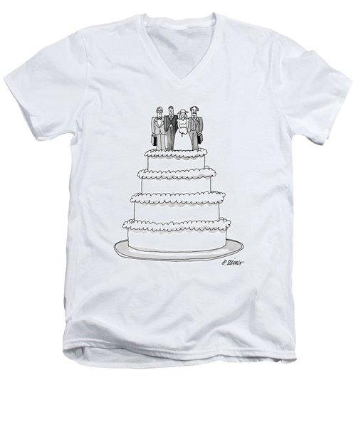 New Yorker July 9th, 1979 Men's V-Neck T-Shirt