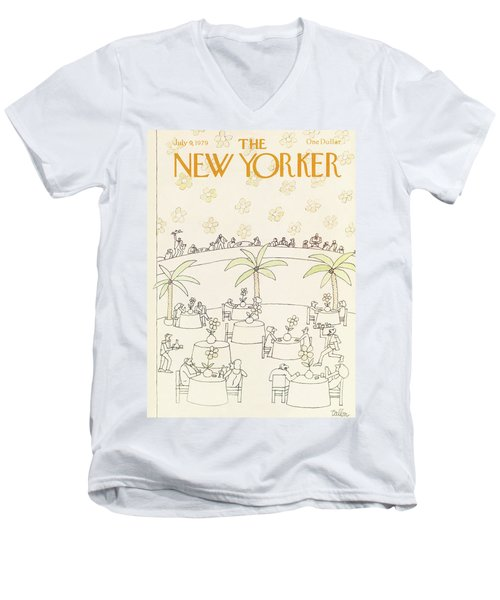 New Yorker July 9th, 1979 Men's V-Neck T-Shirt