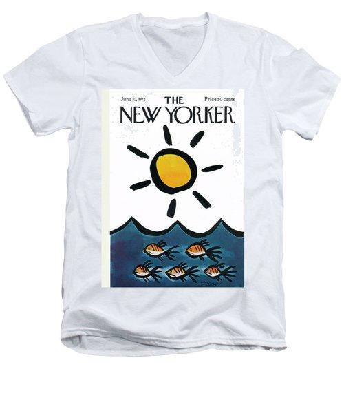 New Yorker June 10th, 1972 Men's V-Neck T-Shirt