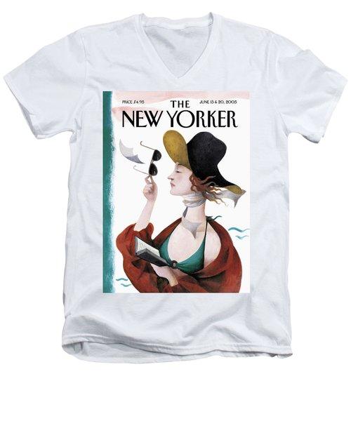 Debut On The Beach Men's V-Neck T-Shirt