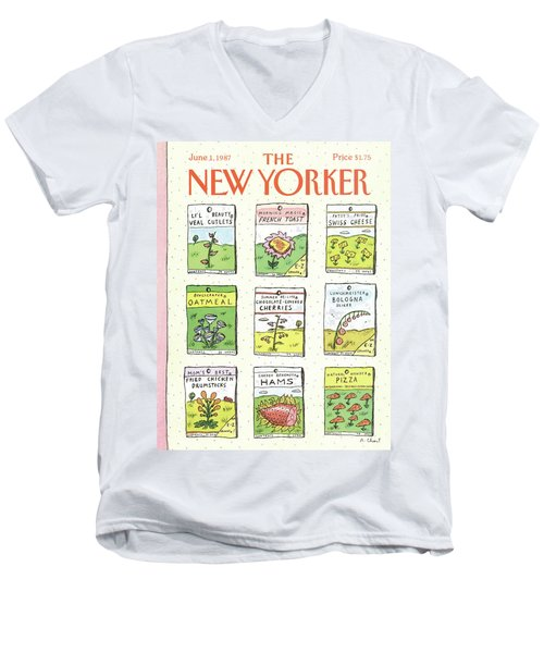 New Yorker June 1st, 1987 Men's V-Neck T-Shirt
