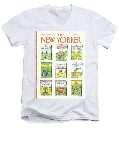 New Yorker June 1st, 1987 Men's V-Neck T-Shirt