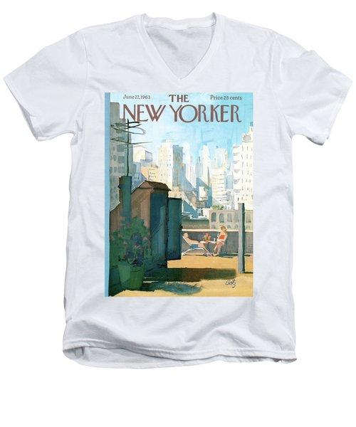 New Yorker June 22nd, 1963 Men's V-Neck T-Shirt