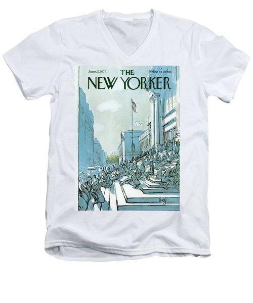 New Yorker June 27th, 1977 Men's V-Neck T-Shirt