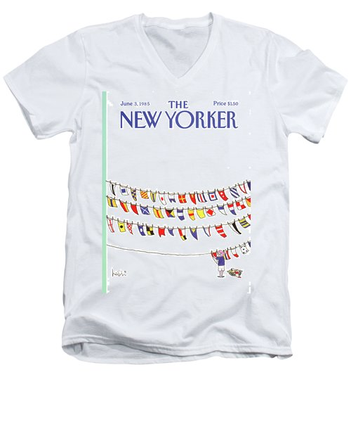 New Yorker June 3rd, 1985 Men's V-Neck T-Shirt