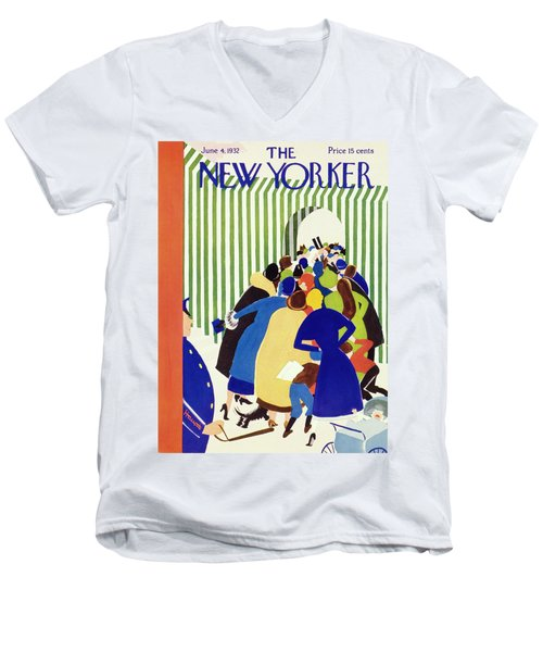 New Yorker June 4 1932 Men's V-Neck T-Shirt