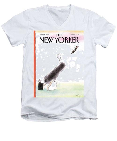 New Yorker June 4th, 1990 Men's V-Neck T-Shirt