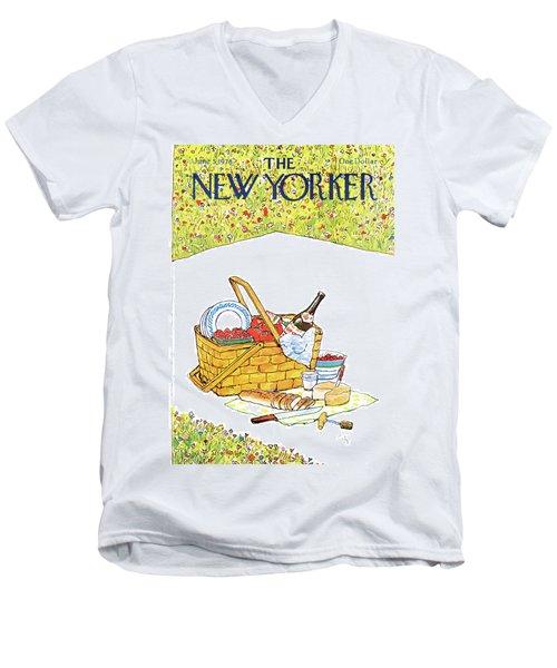 New Yorker June 5th, 1978 Men's V-Neck T-Shirt