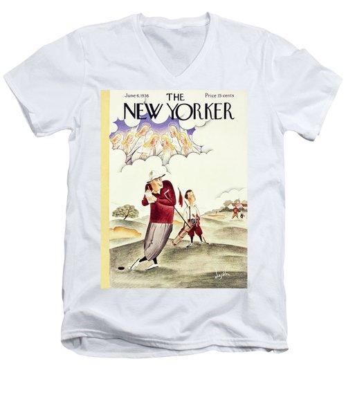 New Yorker June 6 1936 Men's V-Neck T-Shirt
