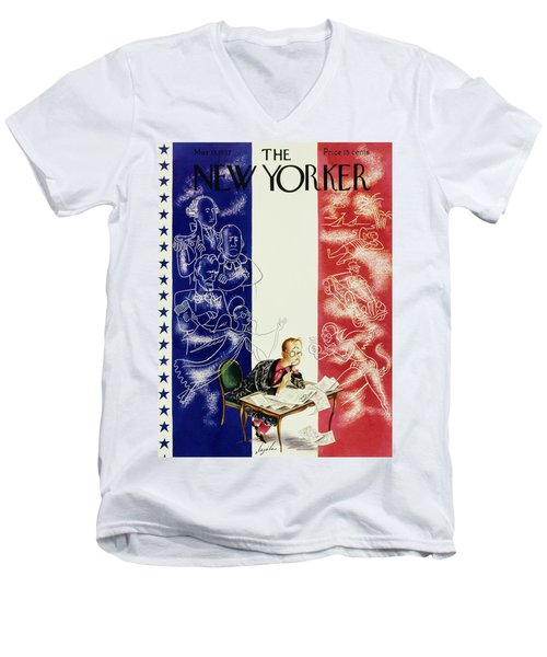 New Yorker March 13 1937 Men's V-Neck T-Shirt