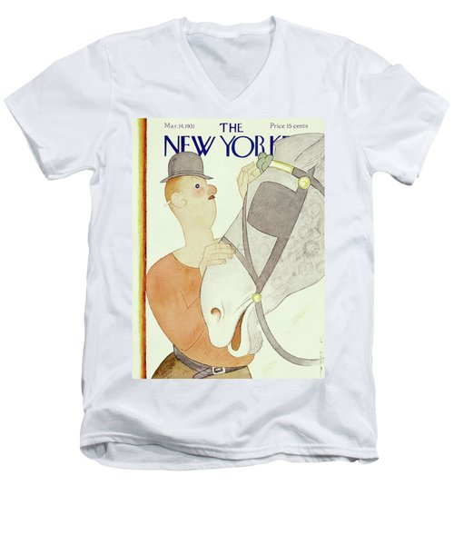 New Yorker March 14 1931 Men's V-Neck T-Shirt