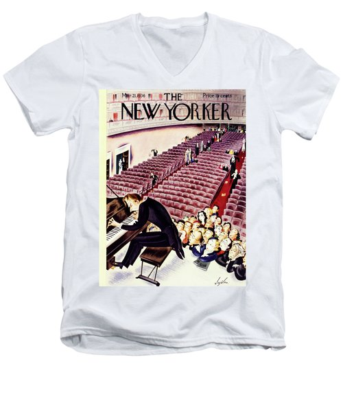 New Yorker March 21 1936 Men's V-Neck T-Shirt