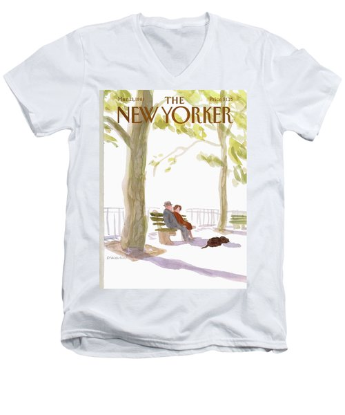 New Yorker March 23rd, 1981 Men's V-Neck T-Shirt