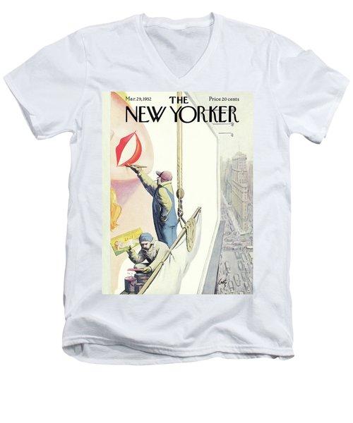New Yorker March 29th, 1952 Men's V-Neck T-Shirt