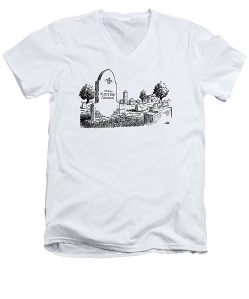 New Yorker March 2nd, 1992 Men's V-Neck T-Shirt